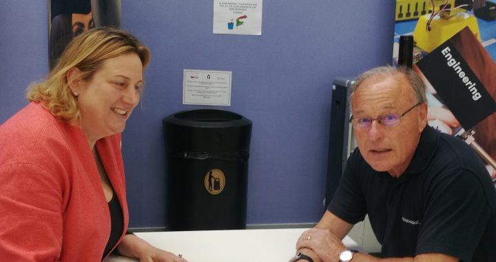 Dave Turner and Antoinette Sandbach MP