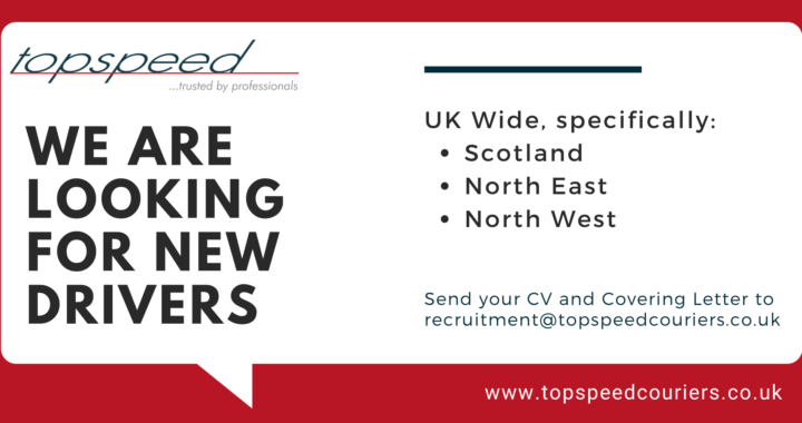 Topspeed Couriers are recruiting